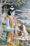 Rama Pouring Milk over Shiva's Lingam, Pashupatinah Lámina fotográfica