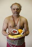 Brahmin Priest in Highgate Hill Hindu Temple Photographic Print