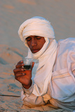 Bedouins Drinking Tea in the Sahara Photographic Print