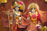 Bhaktivedanta Manor Temple Statues of Krishna and Rada Photographic Print