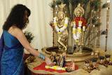 Janmashtami Festival at Bhaktivedanta Manor ISKCON (Hare Krishna) Temple Photographic Print