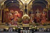 Bhaktivedanta Manor Temple Gods Left to Right: Krishna Photographic Print