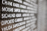 The Holocaust Memorial, Miami Beach Wall of Names Photographic Print