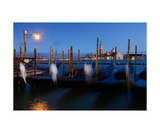 Venetian Gondolas At Night Photographic Print by Francesco Carovillano