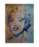 Blue Marylin Photographic Print by Christiane Guerry