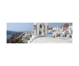 Oia Santorini Panoramic Photo Photographic Print by Francesco Carovillano