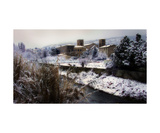 Caunes Abbey Snow Photographic Print by David Richards