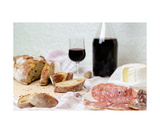 Bread, Hand And Cheese Photographic Print by Francesco Carovillano