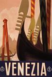 Venezia Italy Tourism Travel Vintage Ad Poster Prints
