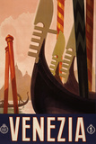 Venezia Italy Tourism Travel Vintage Ad Posters