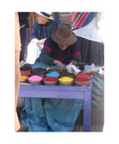 Woman Selling Color Pigments Photographic Print by JB Rousset