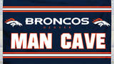 NFL Denver Broncos Man Cave Flag with 4 Grommets Flag