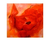 Les Fleurs Rouges Photographic Print by Christiane Guerry