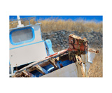 Santorini Boat Photographic Print by Francesco Carovillano