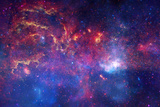 NASA's Great Observatories Examine the Galactic Center Region Space Poster Posters