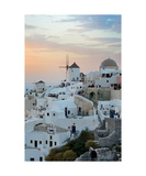 Oia Windmill In Santorini Photographic Print by Francesco Carovillano