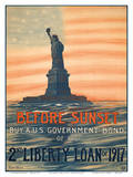 Before Sunset - Buy A U.S. Government Bond of the 2nd Liberty Loan of 1917 Prints by Eugenie De Land