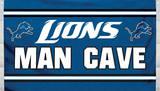 NFL Detriot Lions Man Cave Flag with 4 Grommets Flag