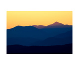 Series Of Mountains Photographed At Sunset Photographic Print by Francesco Carovillano