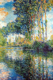 Claude Monet Poplars on the Epte Poster Posters by Claude Monet