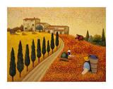 Paesaggio con villaggio Poster di Lowell Herrero
