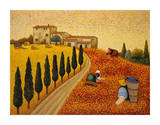 Village Landscape Posters by Lowell Herrero