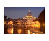 Saint Peters Basilica At Night Photographic Print by Francesco Carovillano