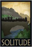 Solitude Retro Travel Poster Plakát