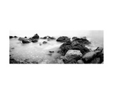 Black And White Stones In The Sea Photographic Print by Francesco Carovillano