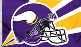 NFL Minnesota Vikings Helmet Flag With Grommets Flag