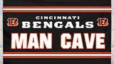 NFL Cincinnati Bengals Man Cave Flag with 4 Grommets Flag