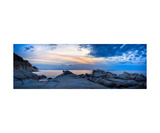 Panoramic Elba Island Seascape At Sunset Photographic Print by Francesco Carovillano