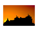 Victor Emmanuel Ii Monument At Sunset Photographic Print by Francesco Carovillano