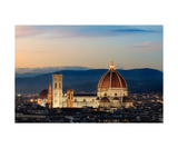 Santa Maria Del Fiore At Sunset Photographic Print by Francesco Carovillano