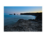 View Of Vik Coastal Landscape At Midnight Sun In I Photographic Print by Francesco Carovillano