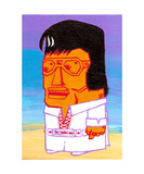 Fat Elvis Tiki (Elviki) Photographic Print by Andrew Fitzpatrick