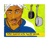 Tupac Shakur With Two Pot Decor Photographic Print by Andrew Fitzpatrick