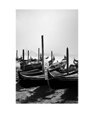 Gondolas And Gondoliere Photographic Print by Francesco Carovillano