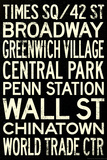 New York City Subway Style Vintage RetroMetro Travel Poster Prints