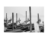 Gondolas In Black And White Photographic Print by Francesco Carovillano