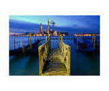 Wooden Pier In Venice At Sunrise Photographic Print by Francesco Carovillano