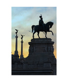 Victor Emmanuel Ii Statue At Sunset Photographic Print by Francesco Carovillano