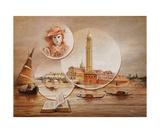 Autrefois En Gondoles Photographic Print by Frank Godille
