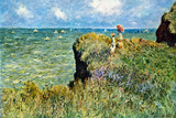Claude Monet Walk on the Cliffs Poster Posters by Claude Monet