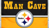 NFL Pittsburgh Steelers Man Cave Flag with 4 Grommets Flag