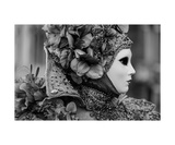 Venetian Carnival B&W Photographic Print by Francesco Carovillano