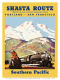 Portland To San Francisco - Shasta Route through the Shasta-Cascade Wonderland Region Posters by Maurice Logan