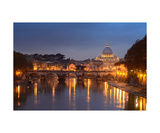 Saint Peters Basilica At Sunset Photographic Print by Francesco Carovillano