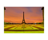 Eiffel Tower At Sunrise Photographic Print by Francesco Carovillano