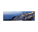 Panorama Of Santorini Greece At Sunset Photographic Print by Francesco Carovillano